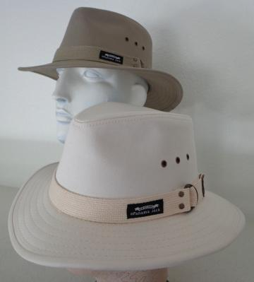 0428ee9bf2e49e Original Panama Jack 100% cotton canvas British Khaki and Tropical Natural  Safari style with an outdoor style webbed hatband. Brim is turned down in  the ...