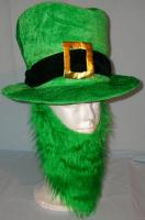 Irish Green Tophat w/ Beard